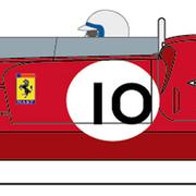 Carrera Digital 132 Auto Ferrari 365 P2 Nr.10 30959