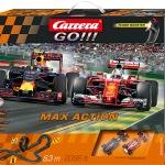 Carrera GO!!! Max Action Set / Grundpackung Art.Nr. 62429 / Verfügbar im Handel ab KW 29 (17. - 21.07.2017)