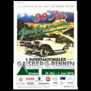 Carrera Digital 124 Gaisbergrennenset 2019 Werbeplakat