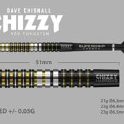 Harrows Steel Darts Dave Chisnall Chizzy 90% Tungsten Steeltip Dart Steeldart Maße