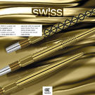 Target Steel Tip SWISS Point Dart Wechsel- Spitzen Schraubspitzen Diamond Point, Firepoint, Smooth Point in Gold und zwei Längen