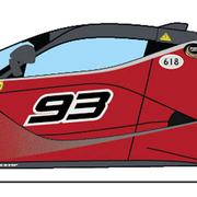 Carrera Digital 132 Auto Ferrari FXX K Evoluzione Nr. 93 30971