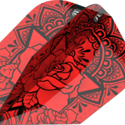 Target INK Pro Ultra Dart Flight - Dartflights Design 2020 Ten-X Rot
