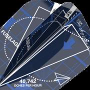 Target Dart Blueprint Pro Ultra Dart Flight - Dartflights Design 2021 Blau Ten-X