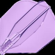 8 Flight Clear Transparent Dart Flights Target Dartflights Design 2020 Candy Grape Nr.6