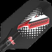 8 Flight Phil Taylor Black Dart Flights Target Dartflights Design 2020 Phil Taylor Slim