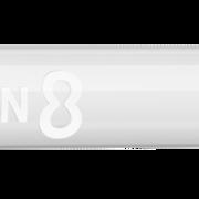 8 Flight Dart Shaft Slim Spin Design 2020 Weiß M Mittel