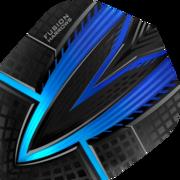 Harrows Fusion Dart Flight Dartflight speziell laminiert Blau