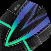 Harrows Fusion Dart Flight Dartflight speziell laminiert Aqua