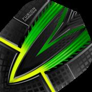 Harrows Fusion Dart Flight Dartflight speziell laminiert Grün