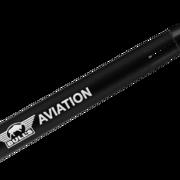 BULL´S NL Aviation Special Aluminium Shaft bedruckt mit Bulls Logo Schwarz Medium