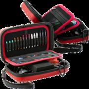 BULL'S Dart Orbis Darttasche Dartcase Dart Wallet XL Extra Large Rot