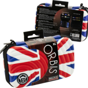 BULL'S Dart Orbis Darttasche Dartcase Dart Wallet XL Extra Large Union Jack