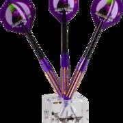 BULL´S NL Dice Darts Display 3 Darts Display Stand Acryl Dartständer für 1 Dartsatz, Lieferung ohne Darts