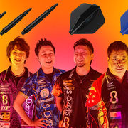 Target Darts Team spielt mit dem neuen 8 Flight System
