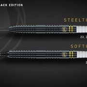 Winmau Steel & Soft- Darts Daryl Gurney Black Special Edition 90% Tungsten Steeltip Softtip Dart Steeldart Softdart 2020 22 g - 23g - 25g
