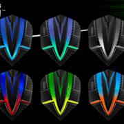 Harrows Fusion Dart Flight Dartflight speziell laminiert in 6 verschiedenen Designs
