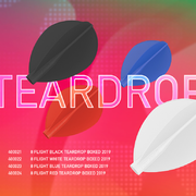 Neue 8 Flight aus Japan, neue Teardrops - Pear Dart Flights 4 Farben
