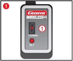 Carrera Digital 124 /132 Receiver Bild 1 mit Erklärungspunkt 1