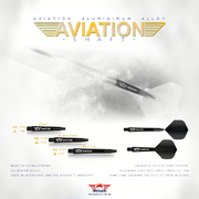 BULL´S NL Aviation Special Aluminium Shaft bedruckt mit Bulls Logo Schwarz
