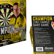 Harrows Dart Dave Chisnall Chizzy Family Dart Game incl. 2 Dartsätze, ready to play
