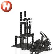 Hubelino Kugelbahn pi Construction Set M 70 Teile Lego kompatibel Neuheit 2019