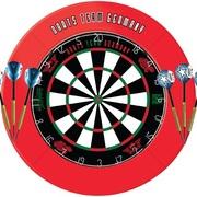 Darts Team Germany Max Hopp und Martin Schindler Dartboard mit Surround und Max Hopp, Martin Schindler Messing Darts im Set enthalten
