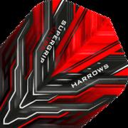 Harrows Supergrip Ultra Red Flight Dartflight