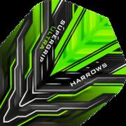 Harrows Supergrip Ultra Dart Flight Dartflight speziell laminiert Grün
