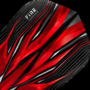 Harrows Fire Inferno Dart Flight Dartflight speziell laminiert Rot