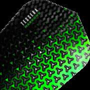 Harrows Tessera Dart Flight Dartflight speziell laminiert Grün