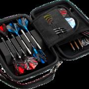 Harrows Blaze Pro 6 Fire Dart Case Darttasche Dartcase Dartbox Wallet geöffnet