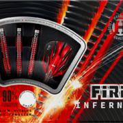 Harrows Steel Darts Fire Inferno 90% Tungsten Steeltip Dart Steeldart 21-22-23-24-25-26 g
