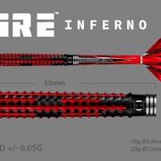 Harrows Dart Softdarts Fire Inferno Titanium Nitride 90% Tungsten
