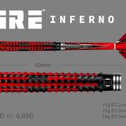 Harrows Dart Steeldarts Fire Inferno Titanium Nitride 90% Tungsten