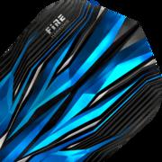 Harrows Fire Inferno Dart Flight Dartflight speziell laminiert Blau