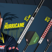 Neue Bulls NL Steel- Softdarts Kim Huybrechts The Hurricane Bulls Niederlande 2020 Dart Launch 16. November 2020 - 90% Black Titanium Dart, 90% PCT Dart, 80% Plain Dart, Powerflite P Std. Kim Huybrechts