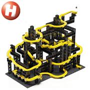 Hubelino Kugelbahn pi Marble Run Set XL 246 Teile Lego kompatibel Neuheit 2019