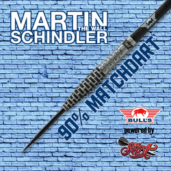 BULL'S Steel Darts Bull´s powered by Shot Darts Martin Schindler The Wall Match Darts 90% Steeltip Darts Steeldart Banner