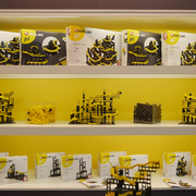 Hubelino Kugelbahn pi Produktpalette auf dem Messestand der Spielwarenmesse Nürnberg Neuheit 2019