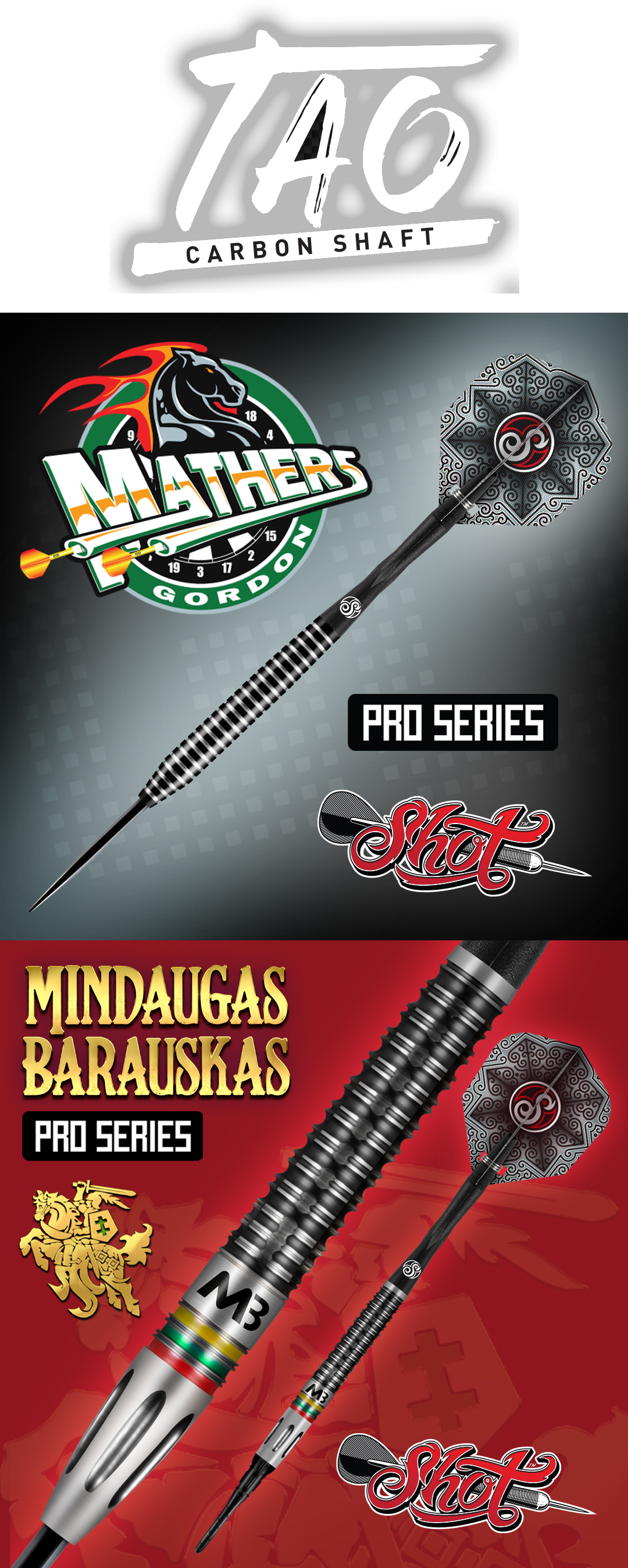 Neue Shot Steeldarts Softdarts 2021 Pro Series Gordon Mathers,  Mindaugas Barauskas Shot Dart Launch 22. April 2021 Shot Dart Neuheiten 2021