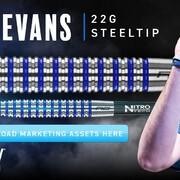 Red Dragon Steel Darts David Evans Stretch Steeltip Dart Steeldart 2021 22 g