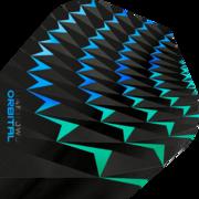 Harrows Orbital Dart Flight Dartflight speziell laminiert Aqua/Grün