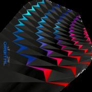 Harrows Orbital Dart Flight Dartflight speziell laminiert Aqua/Rot
