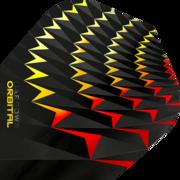 Harrows Orbital Dart Flight Dartflight speziell laminiert  Gelb/Rot