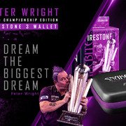 Red Dragon Peter Wright Snakebite Firestone 3 World Champion Edition Darttasche Dartcase Dartbox Wallet