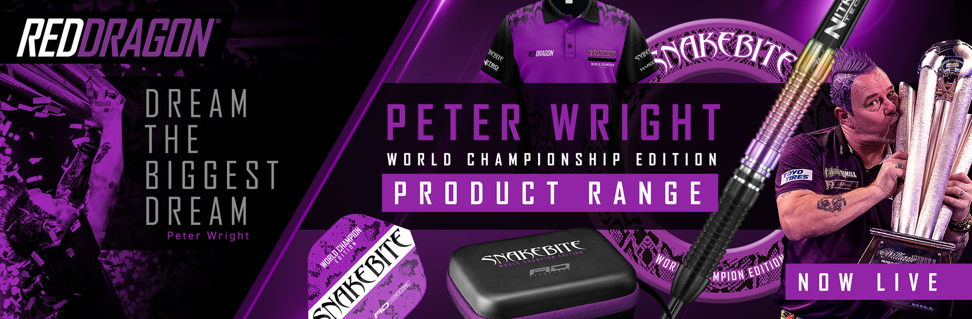 Red Dragon Dart News Neuheiten 2020 Red Dragon Peter Wright World Championship 2020 Edition Weltmeister Steel und Softdarts 2020
