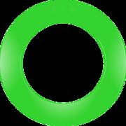 one80 Dart Surround Dartboard Polyurethan plain unbedruckt einteilig Grün