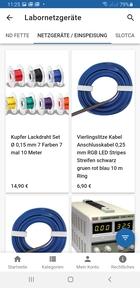 Labornetzgeräte, Kabel und Zubehör