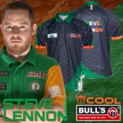 BULL´S Darts Steve Lennon The Shamrock Matchshirt Dart Shirt Trikot Edition 2020